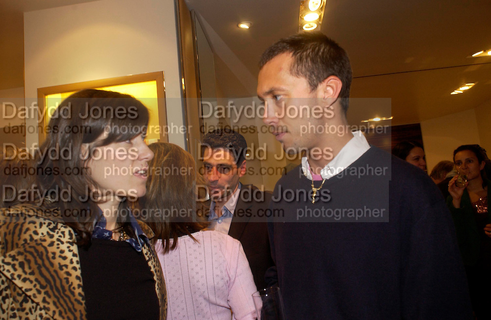 Bella Freud and Dan Macmillan.  Tod's hosts Book signing with Dante Ferretti celebrating the launch of 'Ferretti,- The art of production design' by Dante Ferretti. tod's, Old Bond St. 19 April 2005.  ONE TIME USE ONLY - DO NOT ARCHIVE  © Copyright Photograph by Dafydd Jones 66 Stockwell Park Rd. London SW9 0DA Tel 020 7733 0108 www.dafjones.com