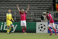 FOOTBALL - UEFA CHAMPIONS LEAGUE 2011/2012 - 1/8 FINAL - 1ST LEG - OLYMPIQUE LYONNAIS v APOEL FC - 14/02/2012 - PHOTO EDDY LEMAISTRE / DPPI - JOY OF CRIS AFTER THE GOAL  (OL)