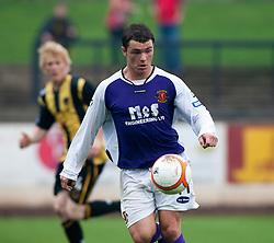 Annan Athletic's David Cox..Berwick Rangers 0 v 1 Annan Athletic, 1/10/2011..Pic © Michael Schofield.