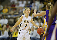 December 22 2010: Iowa guard Kamille Wahlin (2) during the first half of an NCAA college basketball game at Carver-Hawkeye Arena in Iowa City, Iowa on December 22, 2010. Iowa defeated Northern Iowa 75-64.