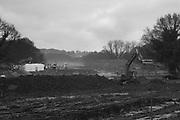 Barnhorn Green, Groundwork, David Wilson homes, Bexhill on Sea. 12 January 2018