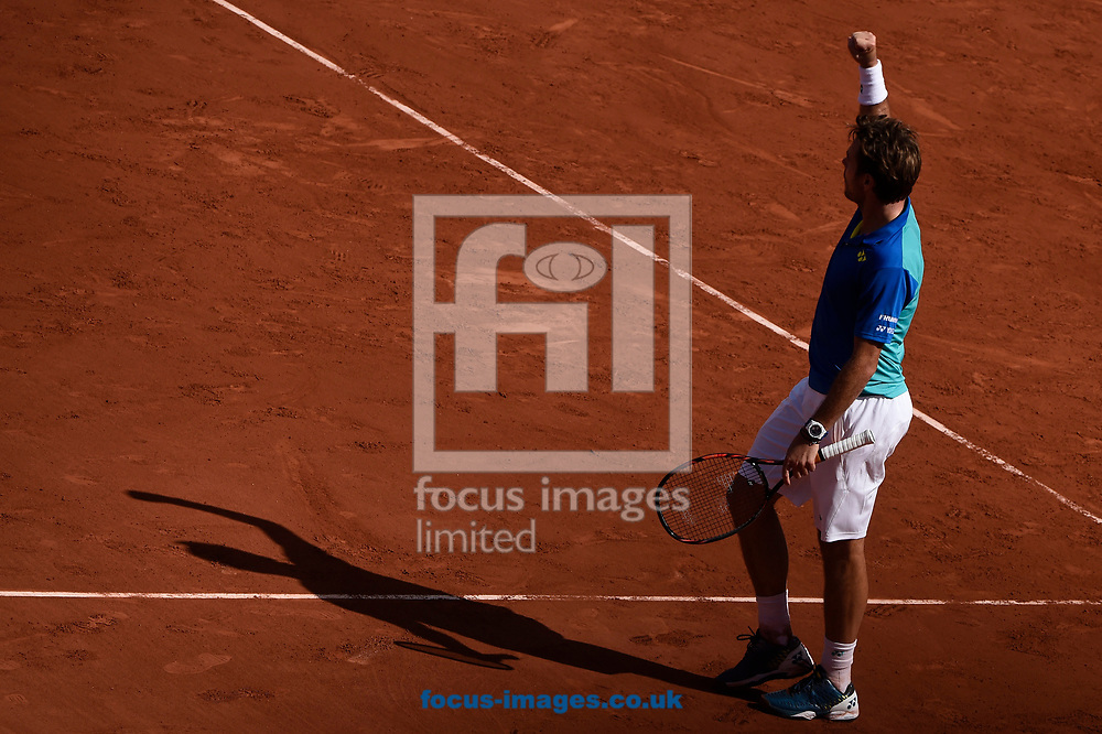 Stan Wawrinka of Switzerland on day thirteen of the French Open  Tournament of the ATP Tour at Roland Garros, Paris<br /> Picture by EXPA Pictures/Focus Images Ltd 07814482222<br /> 09/06/2017<br /> *** UK &amp; IRELAND ONLY ***<br /> <br /> EXPA-THI-170609-5333.jpg