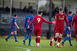 LIVERPOOL, ENGLAND - Monday, February 24, 2020: Liverpool's Joe Hardy (L) celebrates scoring the second goal during the Premier League Cup Group F match between Liverpool FC Under-23's and AFC Sunderland Under-23's at the Liverpool Academy. (Pic by David Rawcliffe/Propaganda)