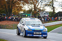 #83 Richard Kay / Adam Kay Vauxhall Corsa Bolton-le-Moorsduring Neil Howard Memorial Stage Rally, and opening round of the 2015 Motorsport News Rally Championship.  at Oulton Park, Little Budworth, Cheshire, United Kingdom. November 07 2015. World Copyright Peter Taylor. Copy of publication required for printed pictures.  Every used picture is fee-liable. http://archive.petertaylor-photographic.co.uk