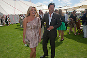 TINA HOBLEY; OLIVER WHEELER, Cartier International Polo. Smiths Lawn. Windsor. 24 July 2011. <br /> <br />  , -DO NOT ARCHIVE-© Copyright Photograph by Dafydd Jones. 248 Clapham Rd. London SW9 0PZ. Tel 0207 820 0771. www.dafjones.com.