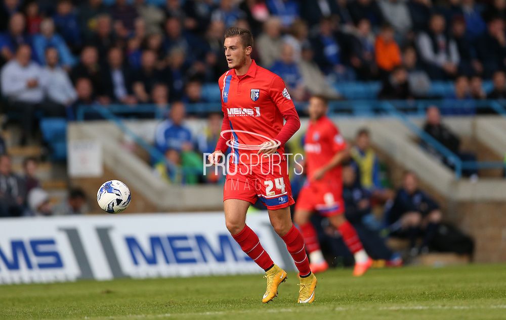 Brennan Dickenson during the Pre-Season Friendly match between Gillingham and Brighton and Hove Albion at the MEMS Priestfield Stadium, Gillingham, England on 29 July 2015.