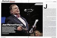 Jean Pierre Mignard dans l'hebdomadaire l'Express pour une double page.