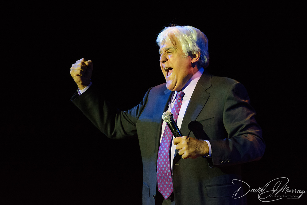 Comedian Jay Leno performs at The Music Hall's historic theater in Portsmouth, NH, on June 30, 2017.
