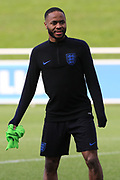 England forward Raheem Sterling during the England football team training session at St George's Park National Football Centre, Burton-Upon-Trent, United Kingdom on 24 March 2019.