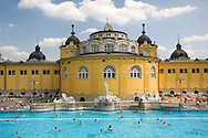 The Szechenyi Baths on a summer day; Budapest, Hungary