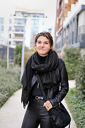 17 January 2019. Paris, France.<br /> Ga&euml;lle Chevalier - survivor of the 2015 Bataclan Terror attack in Paris talks of her life as she continues to recover from the horrific injuries she sustained when she was shot in the face and arm with an AK-47 during the horrific attack. The 37 year old has lost count of the number of operations to recover her smile, she thinks it could be as many as 25 since the attack. <br /> Photo&copy;; Charlie Varley/varleypix.com