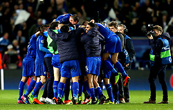 Leicester City celebrate their win over Sevilla - Mandatory by-line: Robbie Stephenson/JMP - 14/03/2017 - FOOTBALL - King Power Stadium - Leicester, England - Leicester City v Sevilla - UEFA Champions League round of 16, second leg
