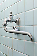 bathroom water faucet where handle is taken off