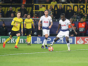 Davinson Sánchez and Toby Alderweireld of Tottenham Hotspur during the Champions League round of 16, leg 2 of 2 match between Borussia Dortmund and Tottenham Hotspur at Signal Iduna Park, Dortmund, Germany on 5 March 2019.