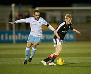 Forfar's Martyn Fotheringham and Dundee's Ian Smith  - Forfar Athletic v Dundee, Martyn Fotheringham testimonial at Station Park, Forfar.Photo: David Young<br /> <br />  - &copy; David Young - www.davidyoungphoto.co.uk - email: davidyoungphoto@gmail.com