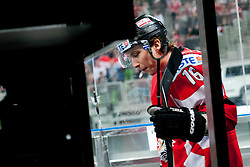 Patrick Harand of Austria going to the ice rink during ice-hockey match between Austria and Slovenia at IIHF World Championship DIV. I Group A Slovenia 2012, on April 21, 2012 at SRC Stozice, Ljubljana, Slovenia. (Photo By Matic Klansek Velej / Sportida.com)