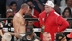 June 17, 2017 - Las Vegas, Nevada, United States of America - Challenger Sergey Kovalev seen in his corner after being stopped in the 8th round during his rematch with Champion Andre  Ward on June 17, 2017 at Mandalay Bay Events Center  in  Las Vegas, Nevada. (Credit Image: © Marcel Thomas via ZUMA Wire)