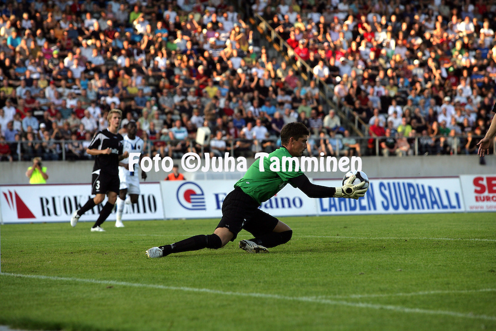 06.08.2009, Lahti, Finland..UEFA Europa League, 3. karsintakierros, 2. osaottelu.FC Lahti - Club Brugge (Belgia).Viktor Szentpeteri - FC Lahti.©Juha Tamminen.