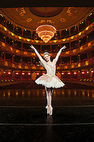 Abigail Mentzer is a soloist dancer with the Pennsylvania Ballet and was photographed on stage at the Academy of Music in Philadelphia.
