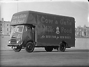 Cow and Gate Van, Thorncastle St., Ringsend, Dublin.07/01/1957