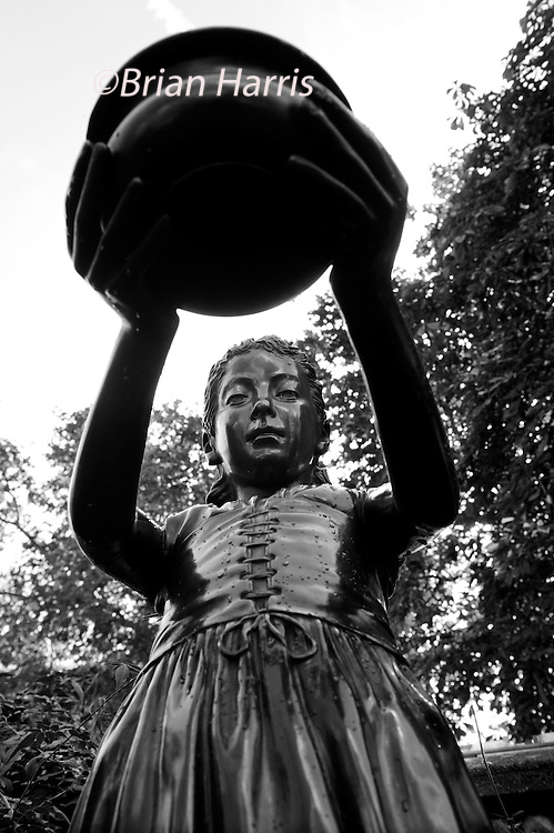 The Statues of London,England. October 2012<br /> Seen here : 'I was Thirsty and Ye gave me Drink'.  Statue from the Children of the Loyal Temperance Legion in Memory of work done for the Temperance cause by Lady Henry Somerset, President of the National British Womens Temperance Assocciation 1896.<br /> We pass them without so much of a glance but I decided to walk the embankment and Westminster area of London and take a good long look at the Statues of London. Most of the works are of Victorians many we have never heard of such as those who reformed  the British educations system or built our drains or who gave us clean drinking water. Others are those who helped to defend this country from the Victorian era to the present day.