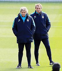 Manchester City Manager, Manuel Pellegrini  - Mandatory byline: Matt McNulty/JMP - 25/04/2016 - FOOTBALL - City Football Academy - Manchester, England - Manchester City v Real Madrid - UEFA Champions League Training Session