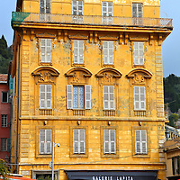 Palace Ca&iuml;s Pierlas in Nice, France<br /> Nestled at the end of Cours Saleya, which is a cobblestone square in Old Nice that is famous for its flower market, is the stunning yellow Palace Ca&iuml;s Pierlas.  Built in 1782, it was once owned by a local family that was prominent since the 13th century.  The famous painter Henri Matisse, who was a friend and competitor of Pablo Picasso, lived on the third floor for several years.
