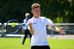 LIVERPOOL, ENGLAND - Saturday, June 17, 2017: ProAm during Day Three of the Liverpool Hope University International Tennis Tournament 2017 at the Liverpool Cricket Club. (Pic by David Rawcliffe/Propaganda)
