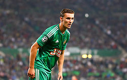 19.08.2015, Ernst Happel Stadion, Wien, AUT, UEFA CL, SK Rapid Wien vs Schachtjor Donezk, Playoff, Hinspiel, im Bild Mario Pavelic (SK Rapid Wien)// during UEFA Champions League Playoff 1st Leg match between SK Rapid Vienna and FC Shakhtar Donetsk at the Ernst Happel Stadium in Vienna on 2015/08/19. EXPA Pictures © 2015, PhotoCredit: EXPA/ Sebstian Pucher