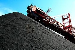 SPAIN GIJON 3OCT08 - Stockpiles of coal unloaded from bulk carriers in the port of Gijon, northern Spain.....jre/Photo by Jiri Rezac....© Jiri Rezac 2008....Contact: +44 (0) 7050 110 417..Mobile:  +44 (0) 7801 337 683..Office:  +44 (0) 20 8968 9635....Email:   jiri@jirirezac.com..Web:    www.jirirezac.com....All images © Jiri Rezac 2008. All rights reserved.