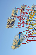 Starbursts painted on ferris wheels seats, Blue Hill Fair, Maine