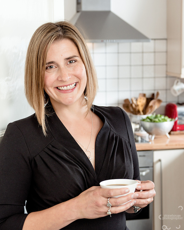 My lovely wife Laura Stonehouse taken for her Cook Book 'Our House For Tea' and use as profile portrait for social Media.<br /> <br /> Birmingham and Manchester Corporate Portrait Photographer Richard Stonehouse.