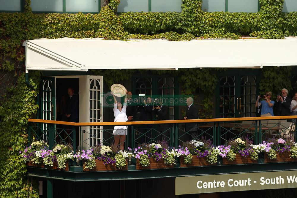 July 13, 2019 - London, England - LONDON, ENGLAND - JULY 13:  Simona Halep  attend the Women's Singles Final of the Wimbledon Tennis Championships at All England Lawn Tennis and Croquet Club on July 13, 2019 in London, England...People:  Simona Halep. (Credit Image: © SMG via ZUMA Wire)