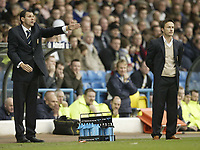 Photo: Aidan Ellis.<br /> Leeds United v Luton Town. Coca Cola Championship. 10/03/2007.<br /> Leeds Gus Poyet (L) and dennis Wise watch their team