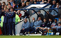 Fotball<br /> Premier League 2004/05<br /> West Bromwich v Middlesbrough<br /> 14. november 2004<br /> Foto: Digitalsport<br /> NORWAY ONLY<br /> Bryan Robson bemoans his defensive luck to Nigel Pearson as scorer Rob Earnshaw, surprisingly substituted, looks on