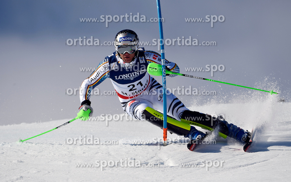 13.02.2017, St. Moritz, SUI, FIS Weltmeisterschaften Ski Alpin, St. Moritz 2017, alpine Kombination, Herren, Slalom, im Bild Thomas Dressen (GER) // Thomas Dressen of Germany in action during his run of Slalom competition for the men's Alpine combination of the FIS Ski World Championships 2017. St. Moritz, Switzerland on 2017/02/13. EXPA Pictures &copy; 2017, PhotoCredit: EXPA/ Sammy Minkoff<br /> <br /> *****ATTENTION - OUT of GER*****