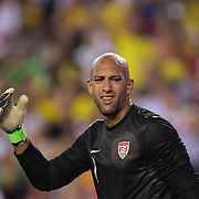 USA goalkeeper Tim Howard during the USA V Brazil International friendly soccer match at FedEx Field, Washington DC, USA. 30th May 2012. Photo Tim Clayton