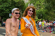 Miss'd American Miss Sabel Scities (aka Timothy Byers) riding down 5th Avenue.