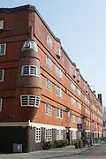 Het Schip,1917 - 1921 erbauter Wohnblock im Stadtviertel Spaarndammerbuurt im Amsterdamer Stadtbezirk West, Amsterdamer Schule, Amsterdam, Holland, Niederlande