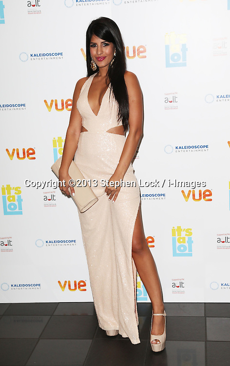Jasmin Walia arriving at the premiere of It's A Lot , in London,Monday, 21st October 2013. Picture by Stephen Lock / i-Images