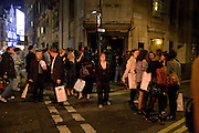 SCENE OUTSIDE, The Premiere of DD perfume by Agent Provocateur with a DD Fashion Show. Dolce. Air St. London. 25 September 2008 *** Local Caption *** -DO NOT ARCHIVE-© Copyright Photograph by Dafydd Jones. 248 Clapham Rd. London SW9 0PZ. Tel 0207 820 0771. www.dafjones.com.