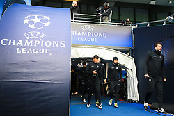Thiago Silva of PSG walks out to train - Mandatory byline: Matt McNulty/JMP - 07966386802 - 11/04/2016 - FOOTBALL - Manchester City v PSG - Etihad Stadium -Manchester,England - UEFA Champions League