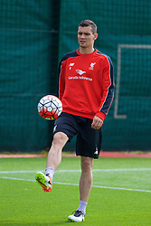 LIVERPOOL, ENGLAND - Friday, May 13, 2016: Liverpool's Dejan Lovren during a training session at Melwood Training Ground ahead of the UEFA Europa League Final against Seville FC. (Pic by David Rawcliffe/Propaganda)