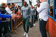 Leeds United forward Edward Nketiah (14), on loan from Arsenal, arriving during the EFL Sky Bet Championship match between Leeds United and Brentford at Elland Road, Leeds, England on 21 August 2019.