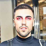 Jose Angel makeup by huda beauty at IMATS London on 18 May 2019,  London, UK.