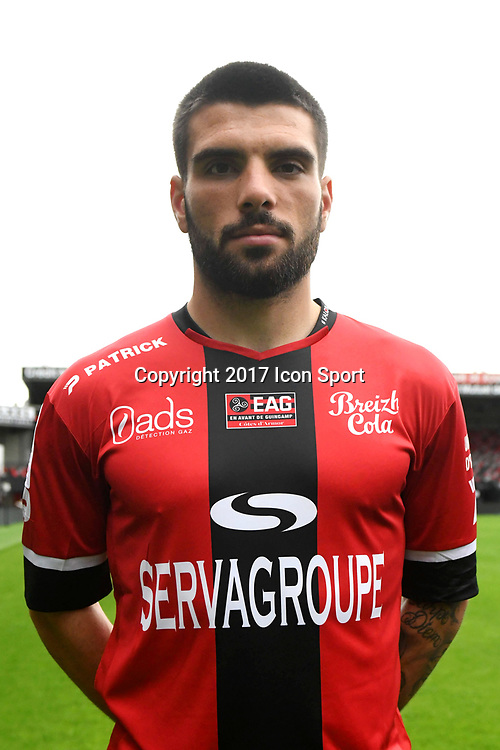 Pedro Miguel Braga Rebocho during photocall of En Avant Guingamp for new season 2017/2018 on September 7, 2017 in Guingamp, France. (Photo by Philippe Le Brech/Icon Sport)