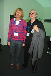 Artist GRAYSON PERRY and his wife PHILLIPPA at the opening of Frieze Art Fair 2007 held in regent's Park, London on 10th October 2007.<br />