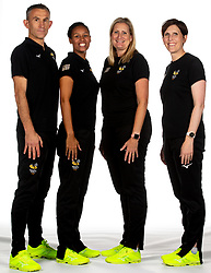 Wasps Netball Head Coach Mel Mansfield, Assistant Coach Bianca Modeste Franchise Manager Sarah Taylor and Physiotherapist Andrew Holbrook - Mandatory by-line: Robbie Stephenson/JMP - 02/11/2019 - NETBALL - Ricoh Arena - Coventry, England - Wasps Netball Headshots