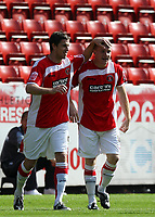 Coca Cola Championship. Charlton v Wolves. 13.09.08<br />Pic By Karl Winter Fotosports International<br />Nicky Bailey celebrates his goal with Andy Gray
