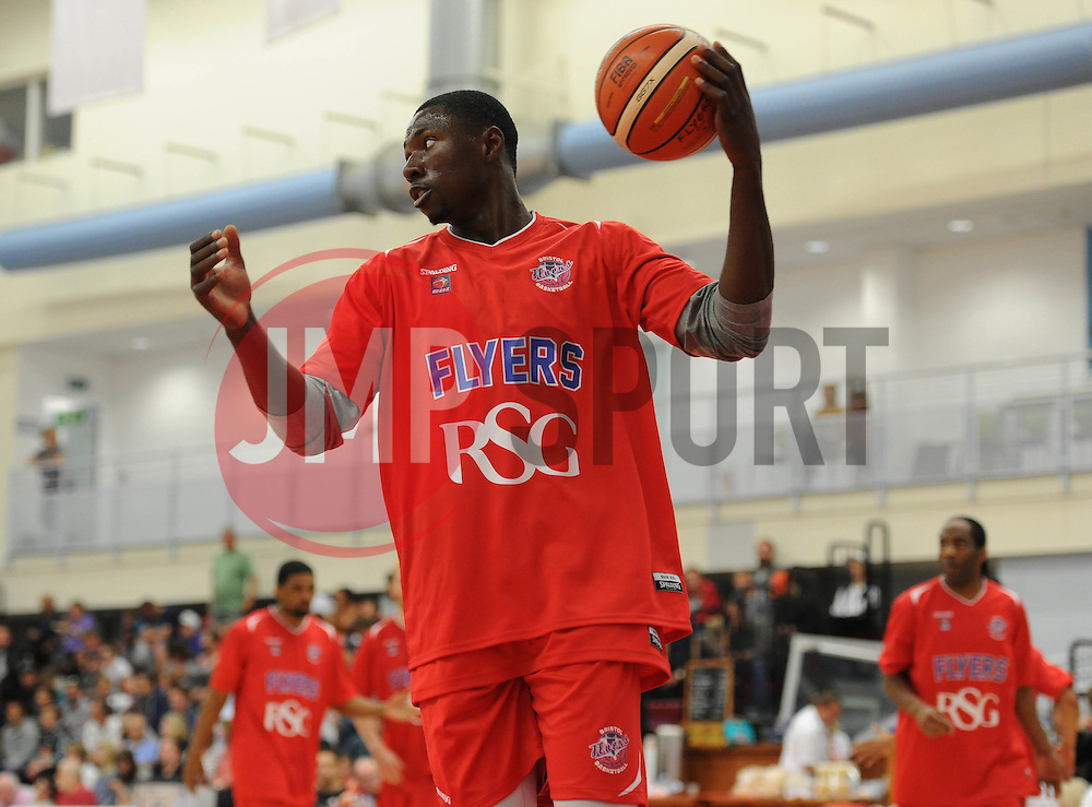 Daniel Edozie of Bristol Flyers - Mandatory byline: Dougie Allward/JMP - 07966 386802 - 19/09/2015 - BASKETBALL - SGS Wise Campus - Bristol, England - Bristol Flyers v Surrey Scorchers - British Basketball League